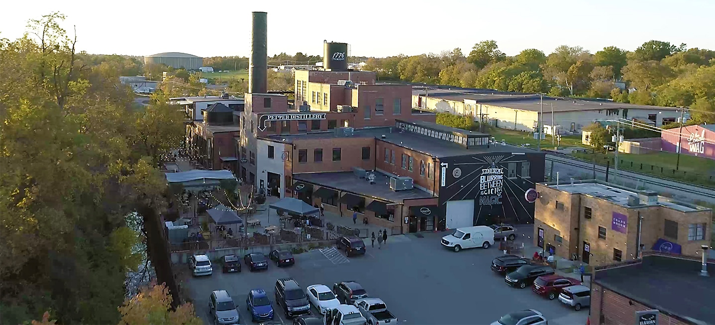 Distillery District Drone Shot